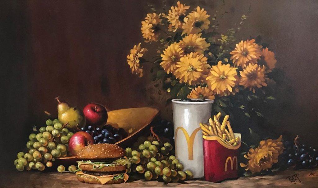 картошка фри из McDonalds | «Re-directed painting» – самое странное направление в современной живописи | Brain Berries
