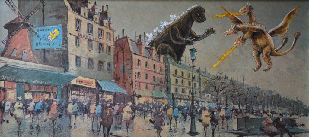 Годзилла | «Re-directed painting» – самое странное направление в современной живописи | Brain Berries