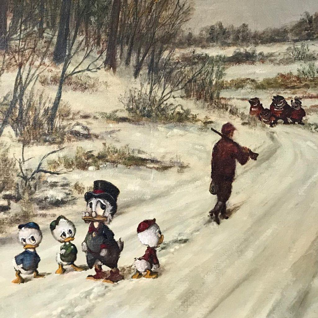 Скрудж, Билли, Вилли и Дилли | «Re-directed painting» – самое странное направление в современной живописи | Brain Berries