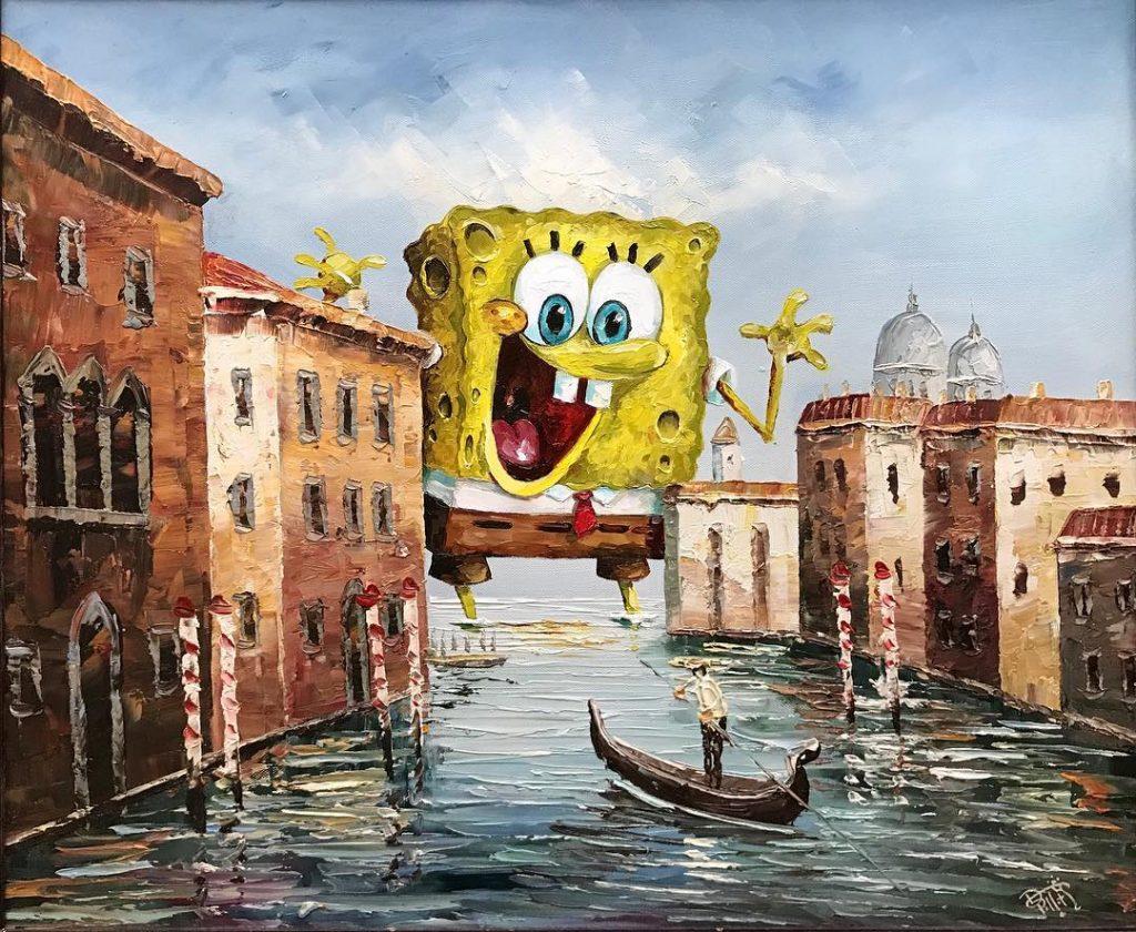 Губка Боб | «Re-directed painting» – самое странное направление в современной живописи | Brain Berries