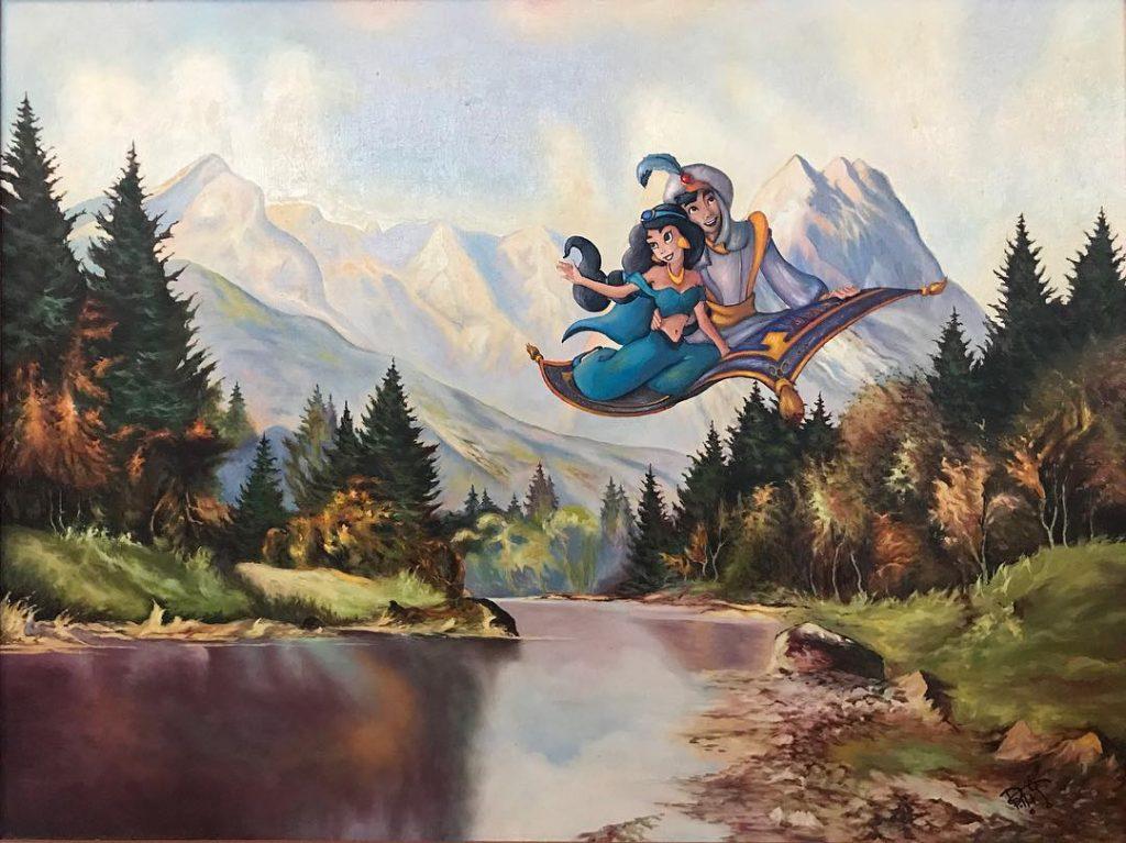 Диснеевские Алладин и принцесса Жасмин | «Re-directed painting» – самое странное направление в современной живописи | Brain Berries