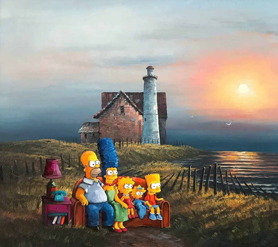This Artist Paints Your Favorite Characters Into Thrift Art Works #12 | ZestRadar