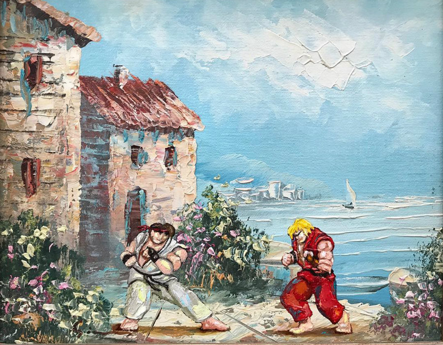 This Artist Paints Your Favorite Characters Into Thrift Art Works #13 | ZestRadar