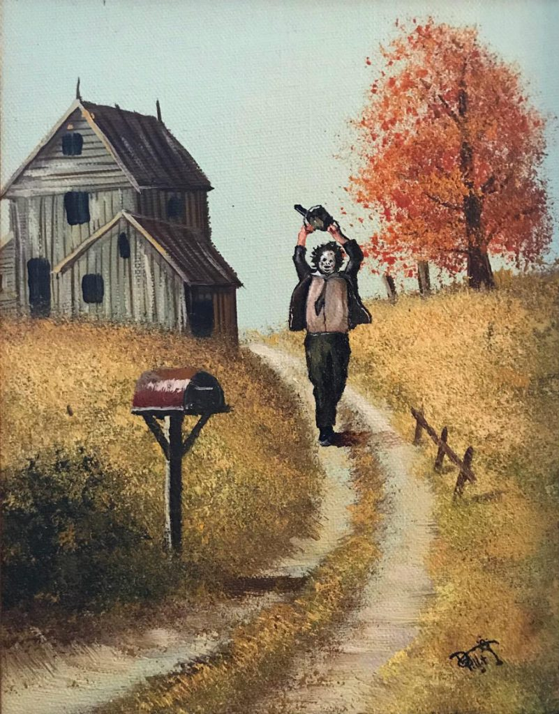 This Artist Paints Your Favorite Characters Into Thrift Art Works #3 | ZestRadar