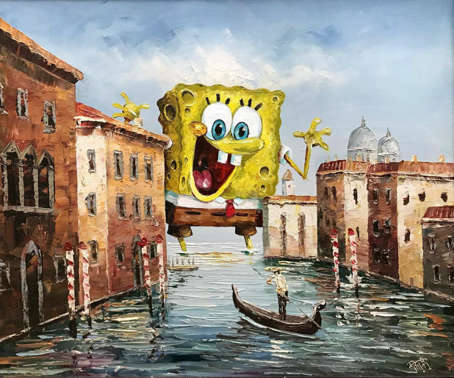 This Artist Paints Your Favorite Characters Into Thrift Art Works #5 | ZestRadar