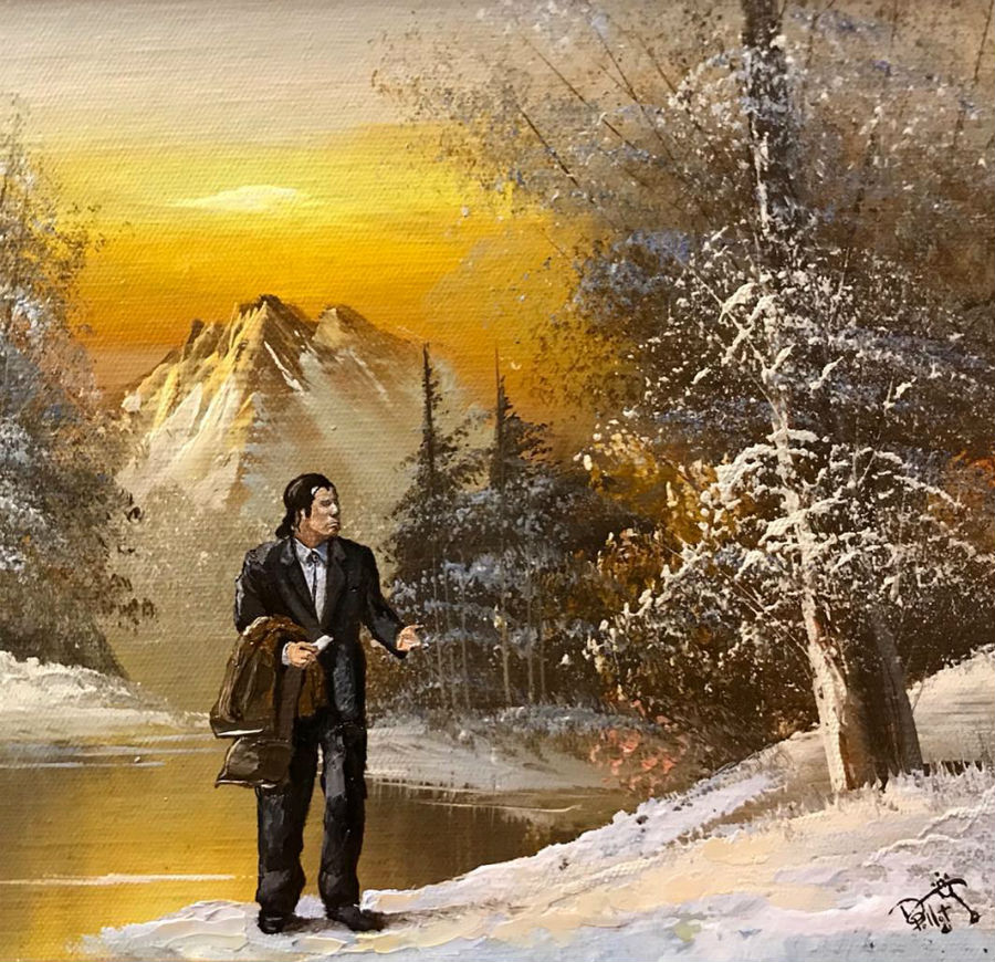 This Artist Paints Your Favorite Characters Into Thrift Art Works #6 | ZestRadar