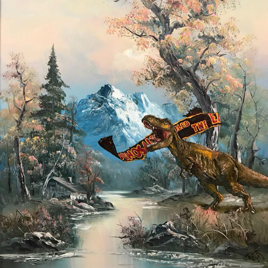 This Artist Paints Your Favorite Characters Into Thrift Art Works #8 | ZestRadar