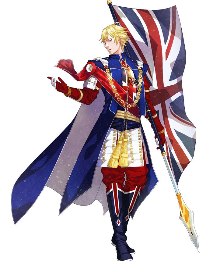 England And It's Flag Like Anime Character   Brain Barries