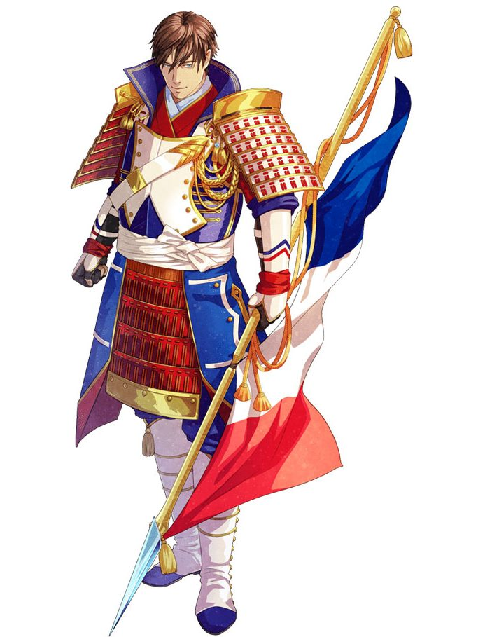 France And It's Flag Like Anime Character   Brain Barries
