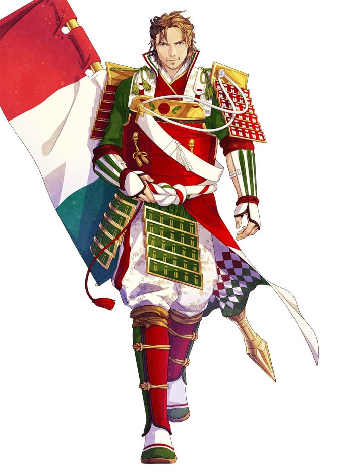 Italy And It's Flag Like Anime Character   Brain Barries