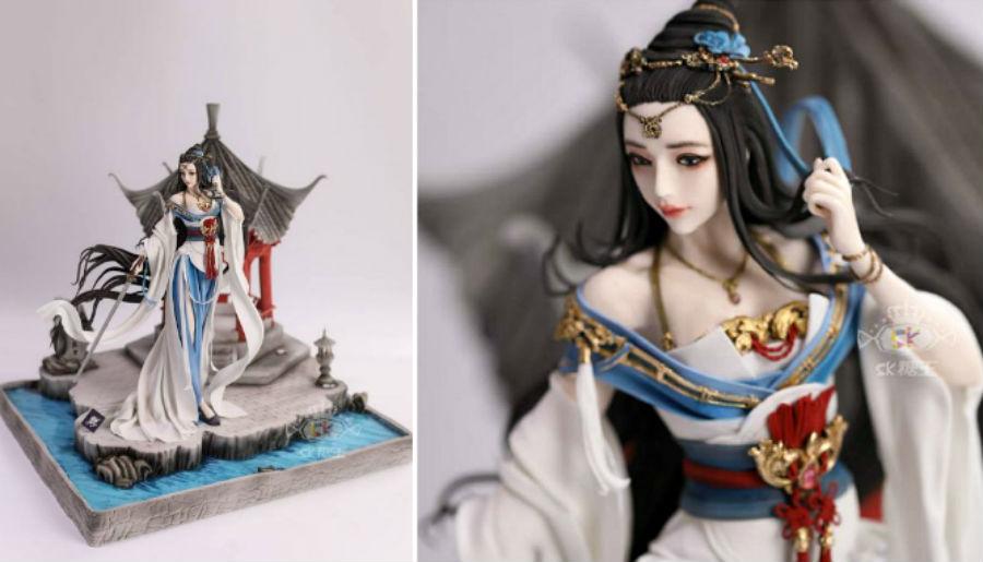 Кондитер Чжоу Йи создает невероятно реалистичные украшения для тортов, в виде красавиц-китаянок #1 | ZestRadar