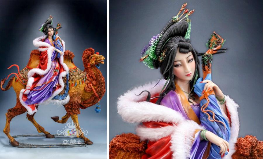 Кондитер Чжоу Йи создает невероятно реалистичные украшения для тортов, в виде красавиц-китаянок #7 | ZestRadar