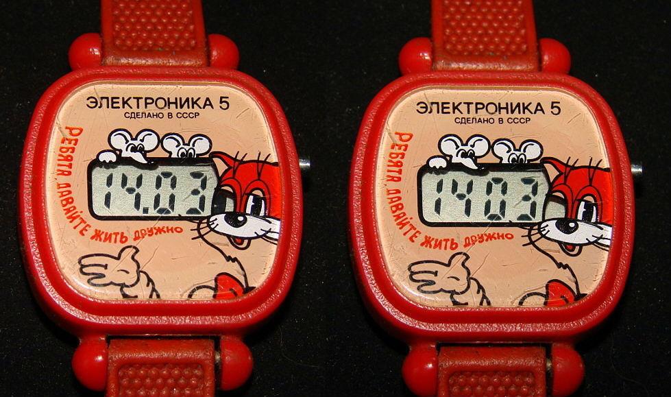 Детские наручные часы «Электроника 5» | 10 легендарных гаджетов из СССР | Brain Berries