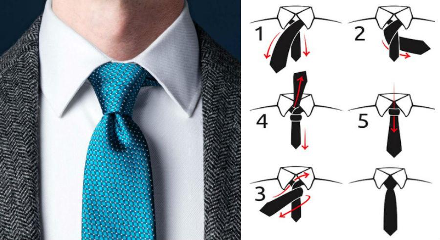 Узел четвертной | 8 способов завязать красиво галстук | Brain Berries