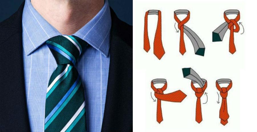 Узел Полувиндзор | 8 способов завязать красиво галстук | Brain Berries