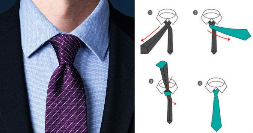 Узел Ориентал | 8 способов завязать красиво галстук | Brain Berries