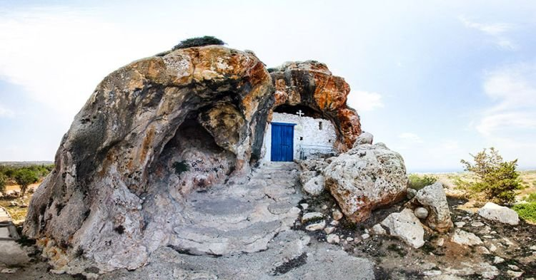 Agioi Saranta, Protaras, Cyprus exterior | 17 Astonishingly Beautiful Cave Churches Around The World | Brain Berries