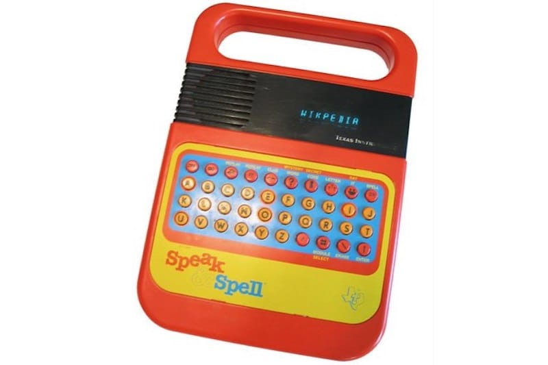 Speak and Spell | 8 Best 1980s Gadgets that Defined a Decade| Brain Berries