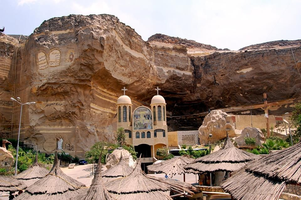 St Samaans Church, Mokattam village, Egypt exterior | 17 Astonishingly Beautiful Cave Churches Around The World | Brain Berries