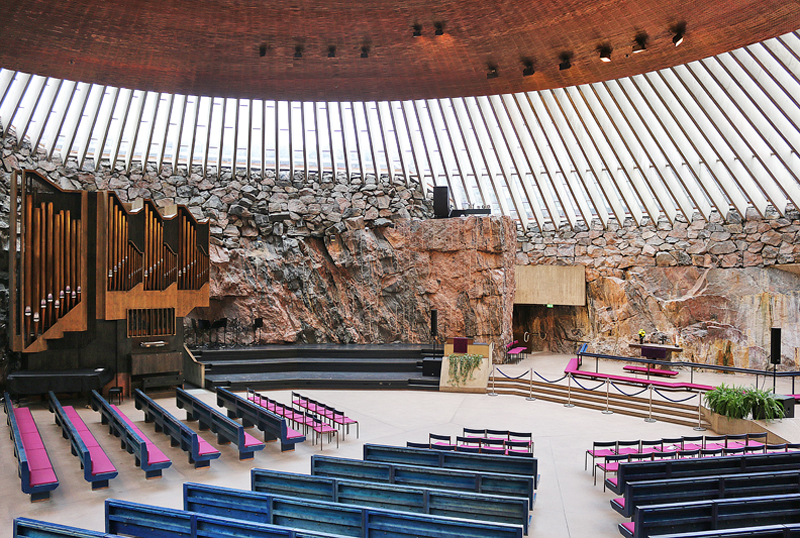 Temppeliaukio Church, Helsinki | 17 Astonishingly Beautiful Cave Churches Around The World | Brain Berries
