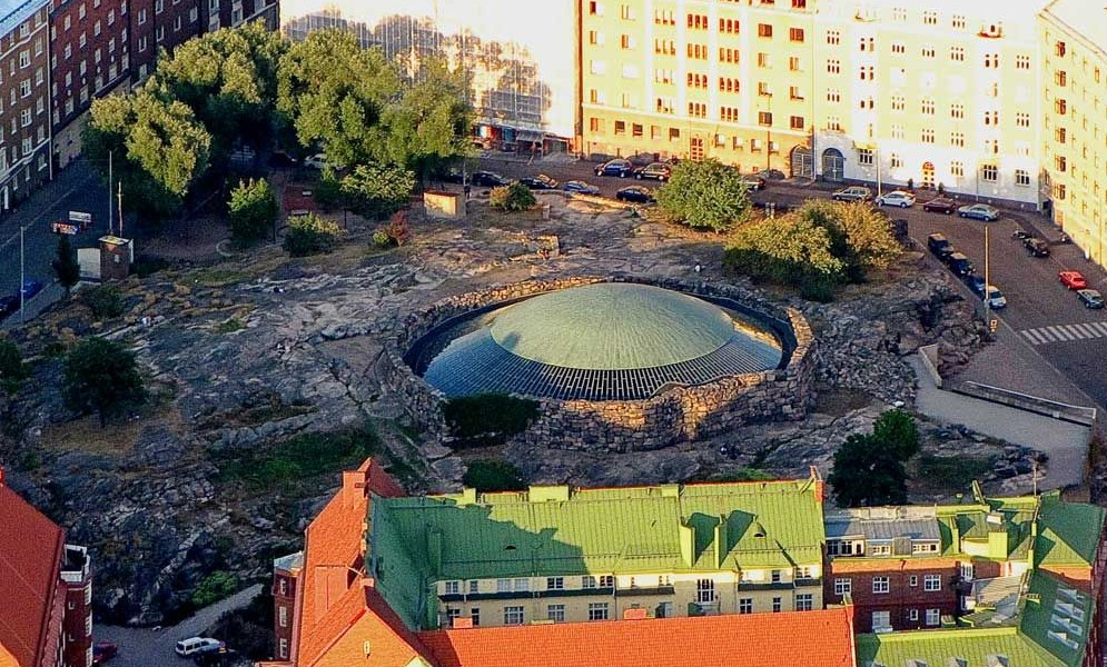 Temppeliaukio Church, Helsinki exterior | 17 Astonishingly Beautiful Cave Churches Around The World | Brain Berries