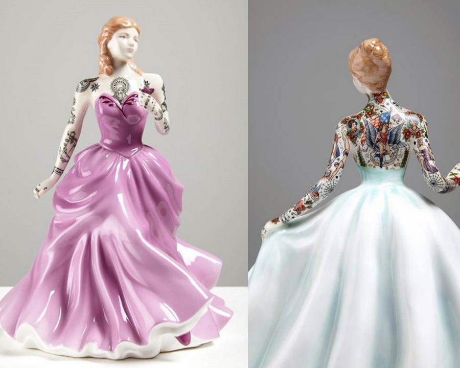 Фарфоровые куклы Джессики Харрисон, покрытые татуировками  #2 | ZestRadar