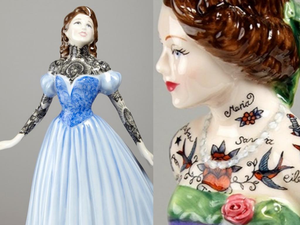 Фарфоровые куклы Джессики Харрисон, покрытые татуировками  #3 | ZestRadar
