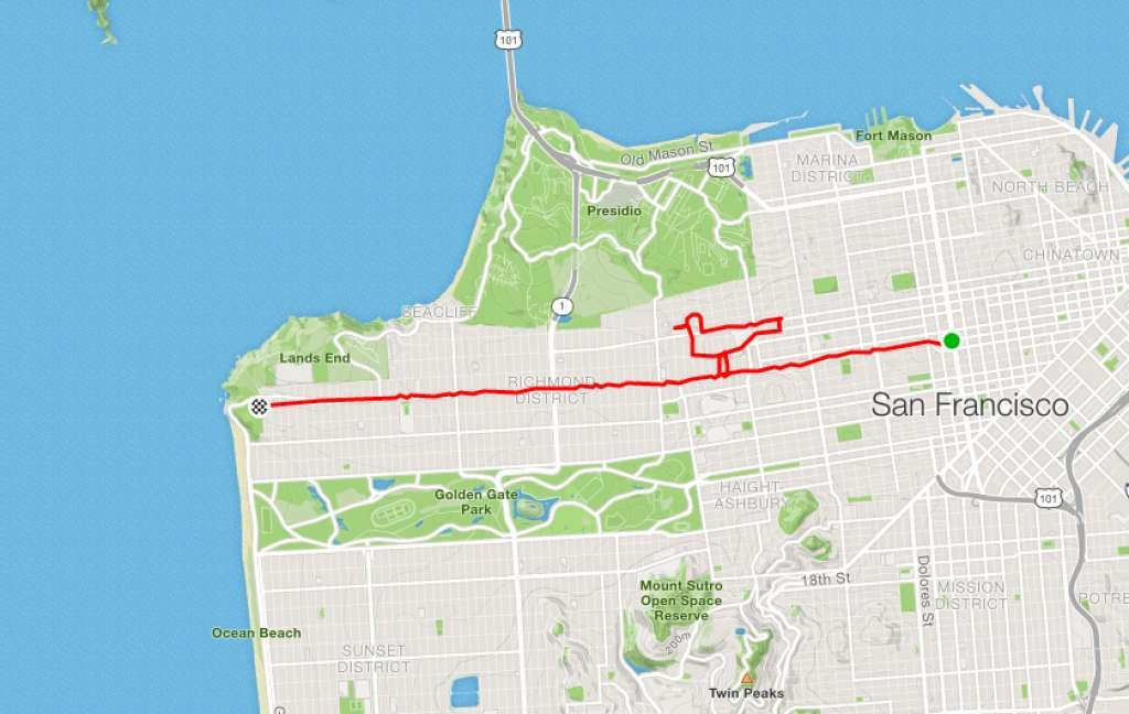 runner Lenny Maughan Birdie | San-Francisco Runner Creates Art Just By Jogging Around | Brain Berries