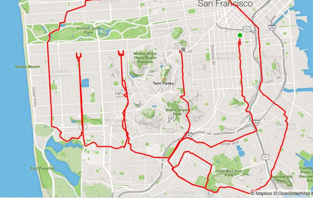 runner Lenny Maughan PewdiePie Brofist   San-Francisco Runner Creates Art Just By Jogging Around   Brain Berries