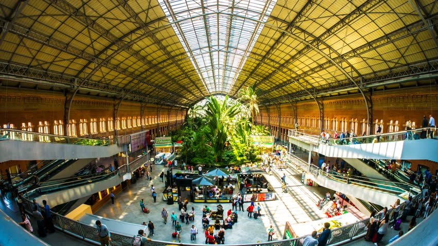 Atocha Station, Madrid inside | 7 Most Asntonishing Train Stations in the World | Brain Berries