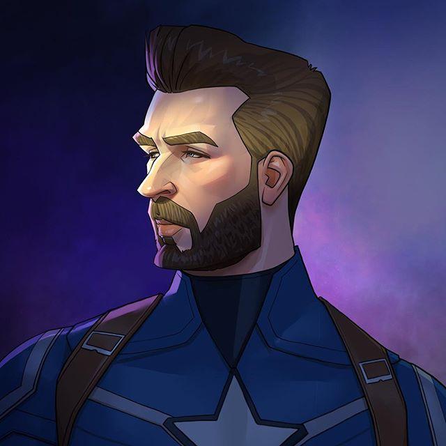 Captain America  | 23 Marvel Heroes Raimagined by Xi Ding | Brain Berries