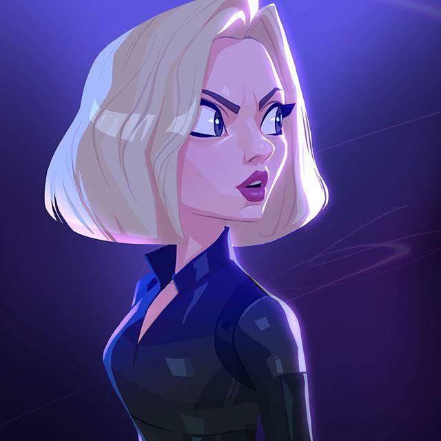 Black Widow  | 23 Marvel Heroes Raimagined by Xi Ding | Brain Berries
