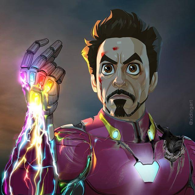Iron Man | 23 Marvel Heroes Raimagined by Xi Ding | Brain Berries