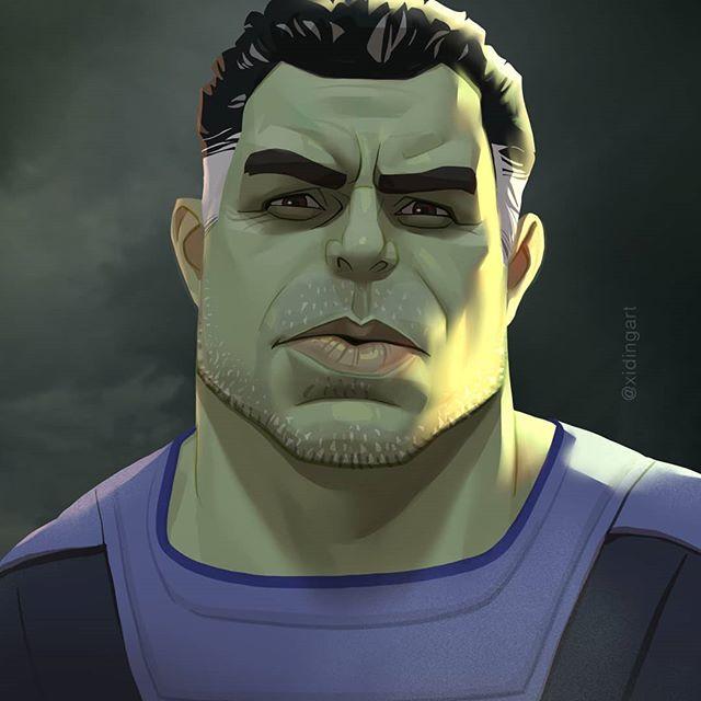 Hulk | 23 Marvel Heroes Raimagined by Xi Ding | Brain Berries