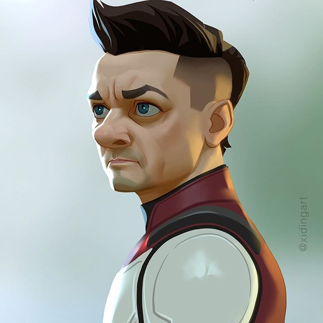 Hawkeye | 23 Marvel Heroes Raimagined by Xi Ding | Brain Berries