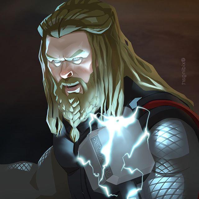 Thor | 23 Marvel Heroes Raimagined by Xi Ding | Brain Berries