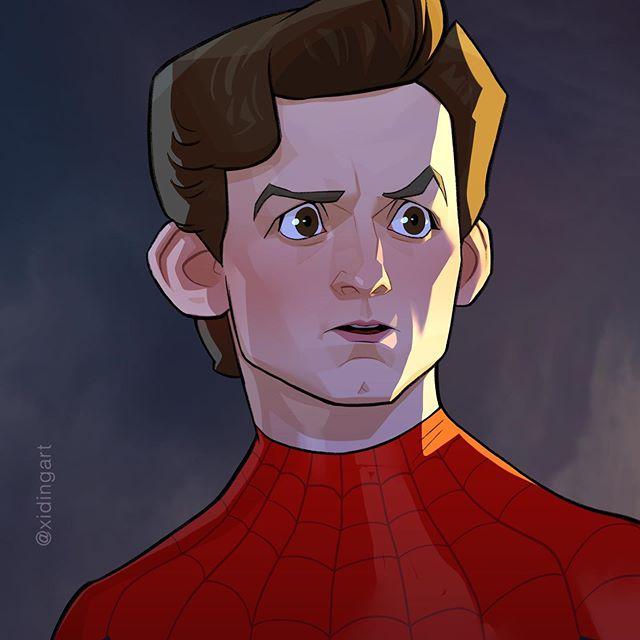 Spider-man | 23 Marvel Heroes Raimagined by Xi Ding | Brain Berries