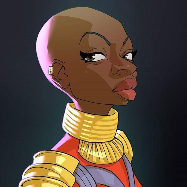 Okoye  | 23 Marvel Heroes Raimagined by Xi Ding | Brain Berries