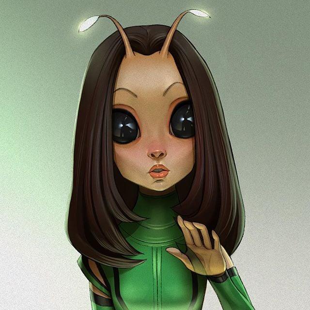 Mantis  | 23 Marvel Heroes Raimagined by Xi Ding | Brain Berries