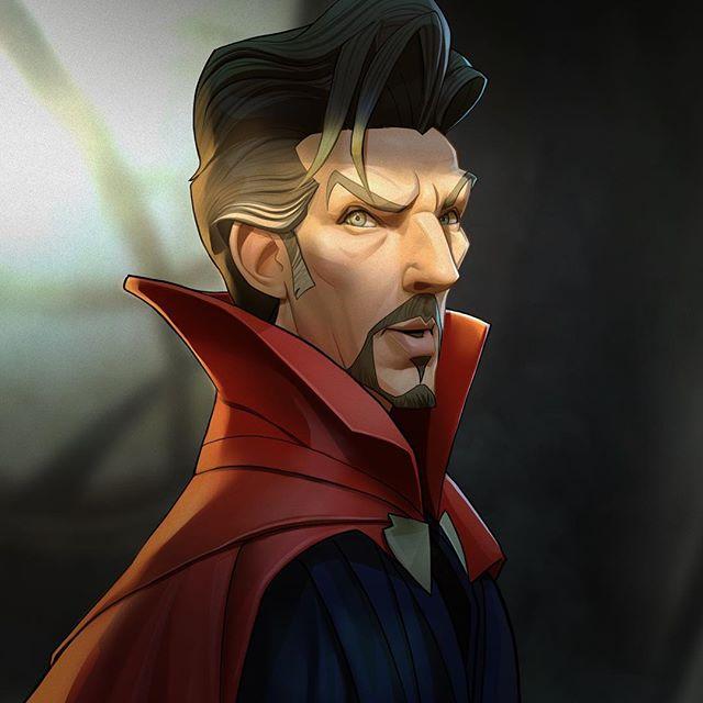 Dr. Strange | 23 Marvel Heroes Raimagined by Xi Ding | Brain Berries