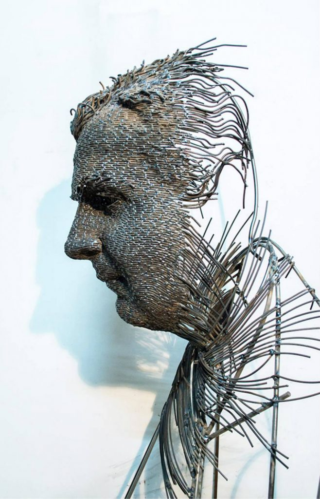 Romanian Artist Is Welding Metal Wires Into The Faces Of Historical Figures #9   ZestRadar