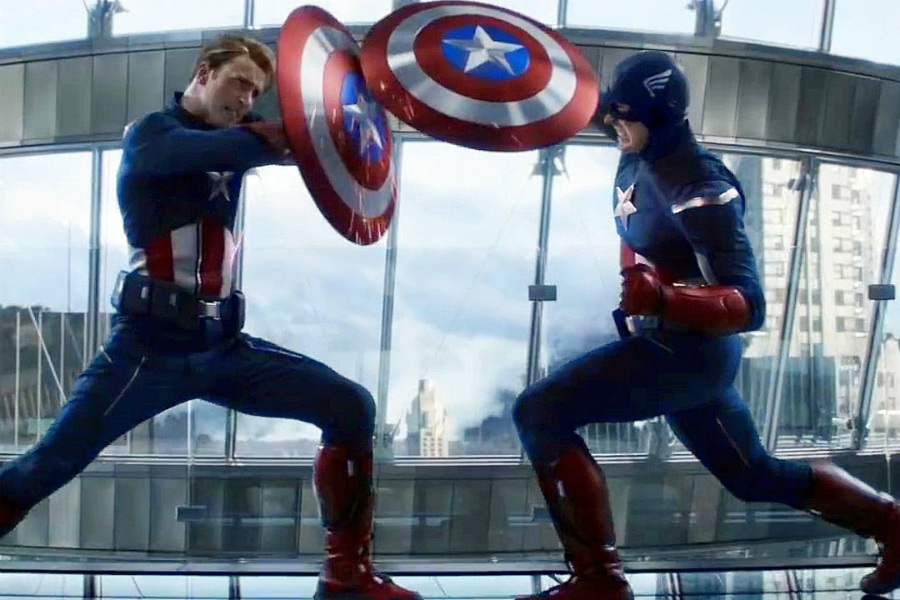 Captain America fighting Captain America | 10 Most Badass Moments Of Captain America | ZestRadar