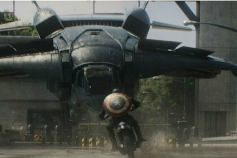 Taking on a quinjet | 10 Most Badass Moments Of Captain America | ZestRadar