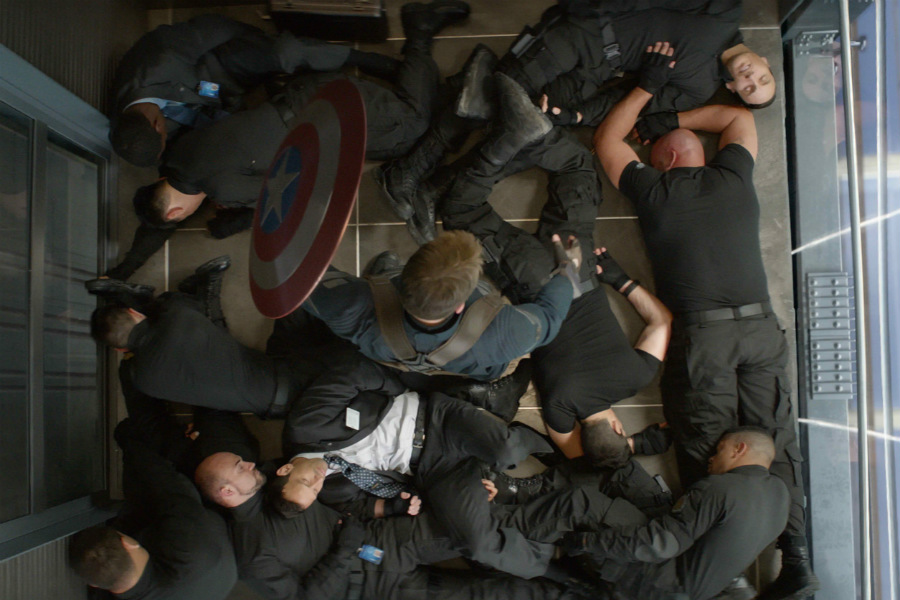 Fight in elevator | 10 Most Badass Moments Of Captain America | ZestRadar