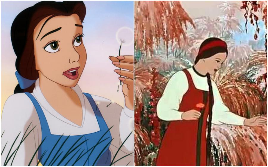 Beauty and the Beast (USA) – The Scarlet Flower (Russia) | Your Favorite Cartoon Characters Look So Different In Other Countries | ZestRadar