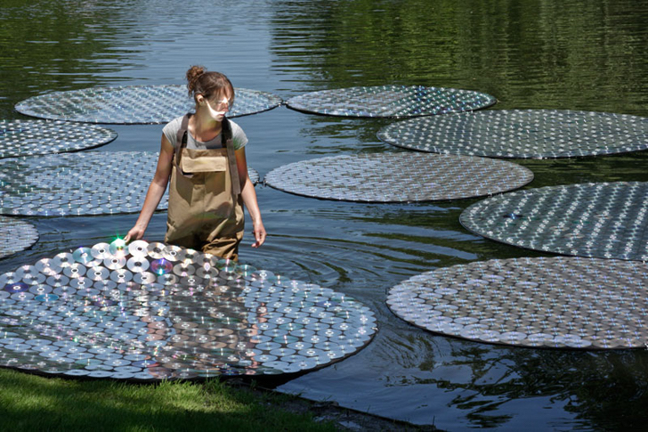 Lake of CDs | 10 Largest Art Installations | Brain Berries