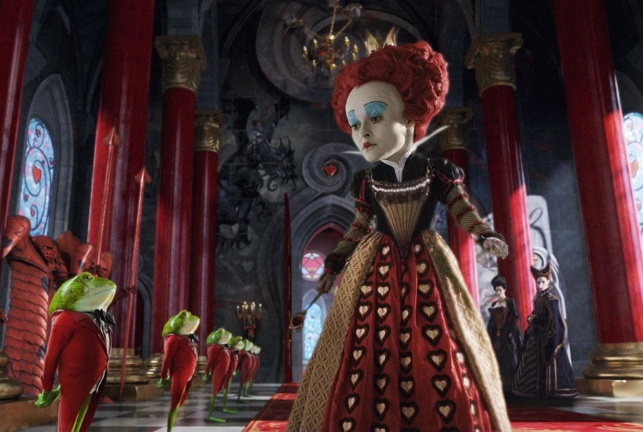 Helena Bonham Carter (Alice in Wonderland) | 7 Gorgeous Movie Dresses That Were A Nightmare To Wear | ZestRadar