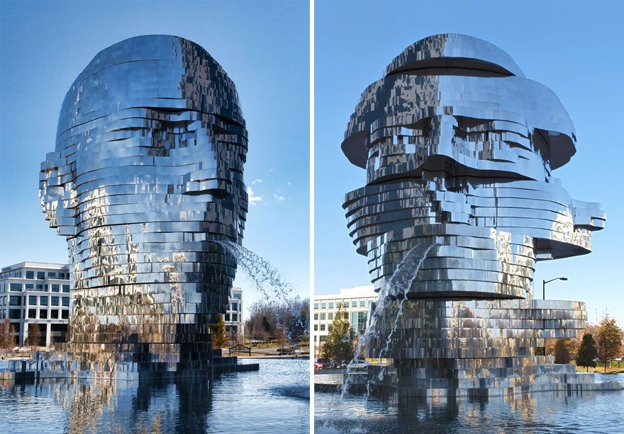 MetaLmorphosis Fountain | 10 Largest Art Installations | Brain Berries
