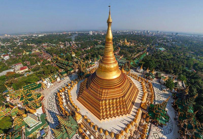 Shwedagon Pagoda  | 10 Most Expensive Religious Buildings Ever Constructed | ZestRadar