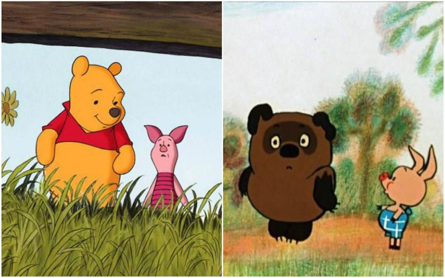 Winnie the Pooh (USA) – Vinni Pukh (Russia) | Your Favorite Cartoon Characters Look So Different In Other Countries | ZestRadar